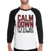 It's Pe Not The Olympics Mens Funny Design Baseball Shirt For Him