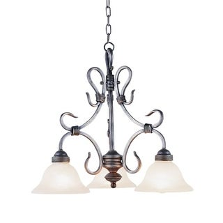 Landmark Lighting 243 Three Light Mini Chandelier from the Buckingham Collection