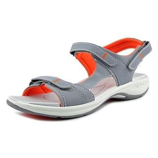 Easy Spirit Egnita Women Open-Toe Synthetic Gray Sport Sandal