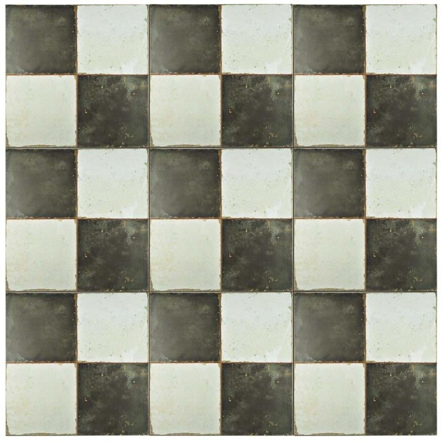 SomerTile 6.6x6.6-inch Royals Damero Ceramic Floor and Wall Tile (6  tiles/6.6 sqft.)