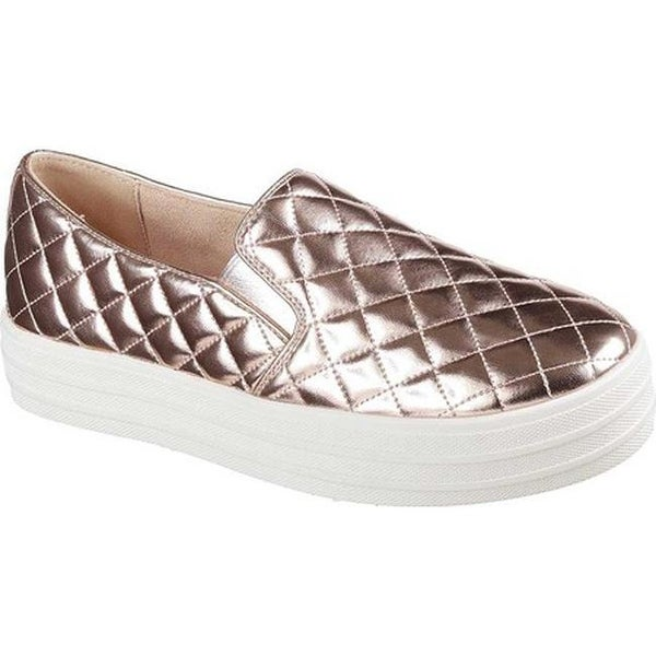220c9b5deb02 Shop Skechers Women s Double Up Duvet Slip-On Sneaker Rose Gold ...