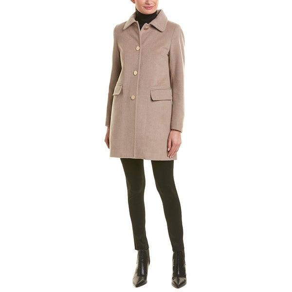 T Tahari Missy Wool-Blend Coat