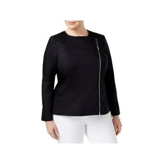 Calvin Klein Womens Plus Basic Jacket Long Sleeves Asymmetric (5 options available)