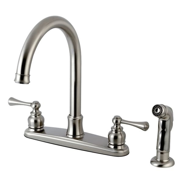 Kingston Brass FB779.BLSP Vintage 1.8 GPM Centerset Kitchen Faucet