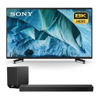 """Sony XBR-85Z9G 85"""" 8K UHD HDR TV with HT-ST5000 7.1.2ch 800W Dolby Atmos Sound Bar - Black"""