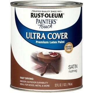 Rust-Oleum 240284 Painter's Touch Ultra Cover, 1 Quart, Satin Nutmeg