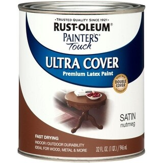 Rust-Oleum 240284 Painter's Touch Ultra Cover, 1 Quart, Satin Nutmeg