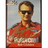Signed Glidden Bob 1993 Finish Line Racing Card autographed