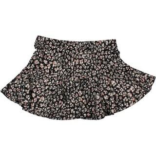 Jessica Simpson Womens Juniors Waffle Mini Flare Skirt