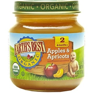 Earth's Best - Apple Apricot Puree ( 12 - 4 OZ)