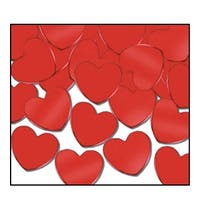 Club Pack of 12 Red Fanci-Fetti Heart Celebration Confetti Bags 1 oz.