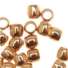 22K Gold Plated Crimp Beads 2.5mm x 3mm (50 Beads)