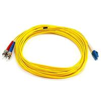 Monoprice Fiber Optic Cable - LC to ST, 9/125 Type, Single Mode, Duplex, Yellow, 10m