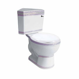 White Ceramic Round Space Saving Corner Toilet