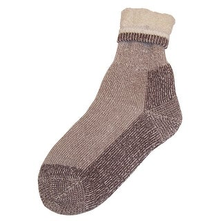 NICE CAPS Womens Bulky And Warm Wool Blend High Ankle Socks - natural oatmeal heather - 9-11