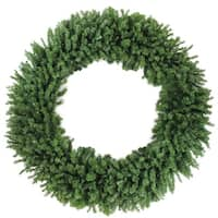 6' Commercial Size Canadian Pine Artificial Christmas Wreath – Unlit - green