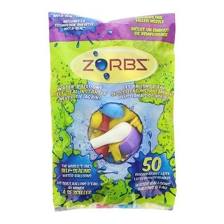 Zorbz Self-Seal Water Balloons, Pack of 50 - Multi