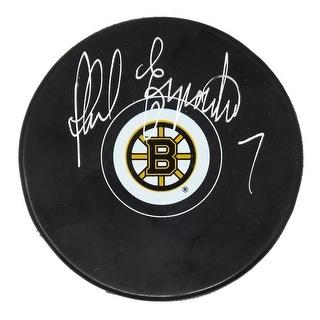 Phil Esposito Boston Bruins Logo Hockey Puck