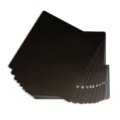 "A-Z Vinyl Dividers - Black - 1.25""x14.5""x13.5"""