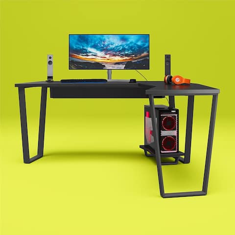 NTense Genesis Gaming L Desk with CPU Stand