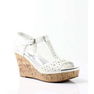 Naturalizer NEW White Women's Shoes Size 10M Riley Wedge Sandal