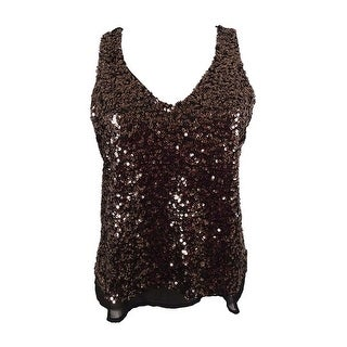 One Clothing Juniors' Sequined Tank Top