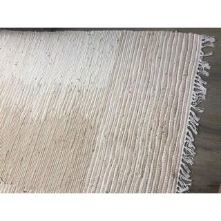 Safavieh Hand Woven Montauk Brown Beige Cotton Rug 8 X