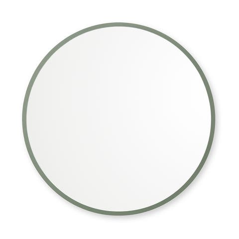 Rubber Framed Round Wall Mirror
