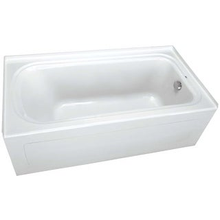 """ProFlo PFS6036RSK 60"""" x 36"""" Alcove Soaking Bath Tub with Skirt and Right Hand Drain"""