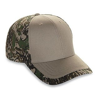 New Six Panel Cotton Twill Camo Cap Adult Mens Women Hat (BFT.KHAKI)