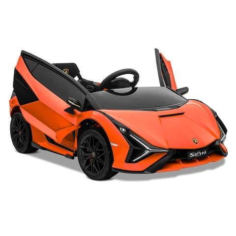 Kidzone 12V Electric Ride On Licensed Lamborghini Roadster 8 Colors - standard