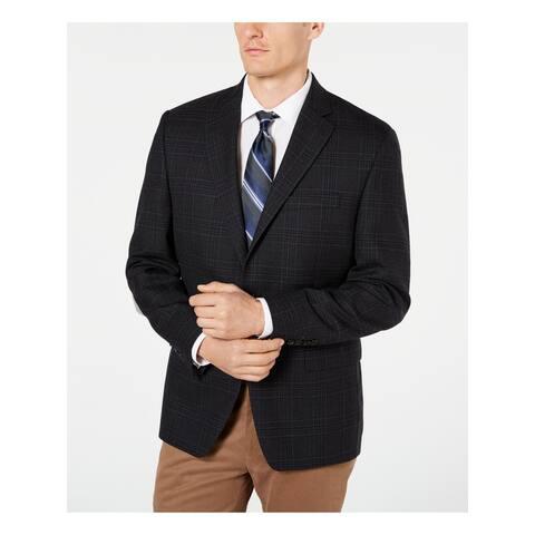 RALPH LAUREN Mens Gray Plaid Suit Cotton Jacket 40L