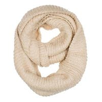 Women's Neck Wrap Warmer Knit Metallic Infinity Loop Scarf