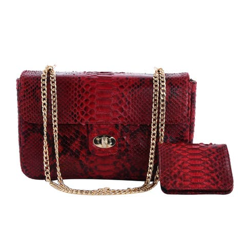 The Pelle Collection Handmade Leather Red Crossbody Bag Wallet