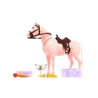 M&F Western Toy Kids Play Set Horse Grooming Pink