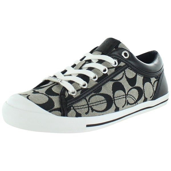 Coach Womens Francesca 12CM Leather Low Top Lace Up Fashion Sneakers