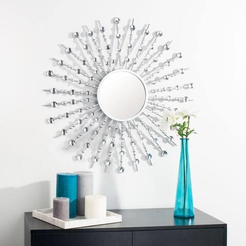 """SAFAVIEH Ariela 32-inch Silver Sunburst Round Mirror - 31.5"""" W x 1.8"""" L x 31.5"""" H"""