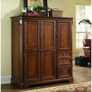 Hooker Furniture 281-10-309 55-1/4 Inch Wide Hardwood Cabinet from the Brookhave