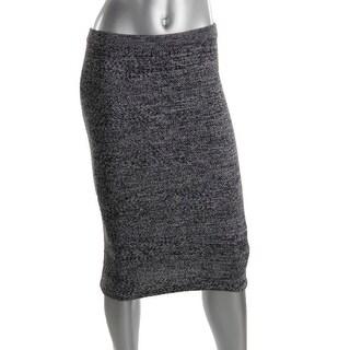 Alice + Olivia Womens Sheryl Wool HerringBone Pencil Skirt