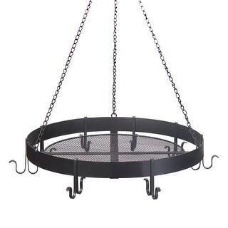 Round Black Hanging Pot Holder