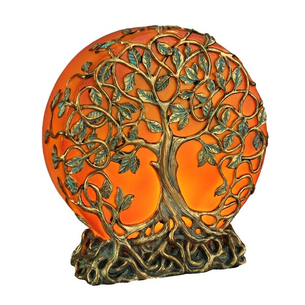 Orange Druid Tree of Life LED Plug-In Night Light Statue