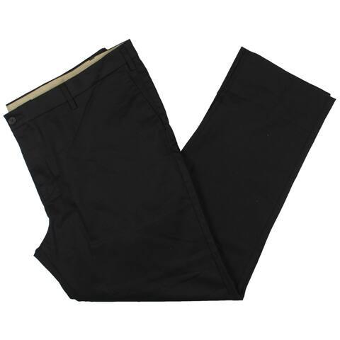 Dockers Mens Big & Tall Khaki Pants Tapered Fit Chino - Black - 46/34