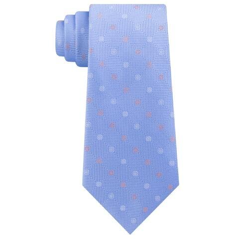 Michael Kors Mens Neck Tie Silk Polka Dot - Blue - O/S