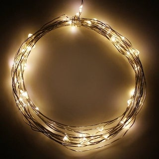 20ft Christmas Fairy LED String Lights, Battery Powered 60 LEDs, Novelty Starry Lights, Warm White, Waterproof