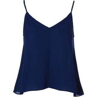 Aqua Womens Plus Georgette Double V Camisole