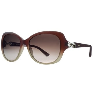 Valentino V639/S 617 Red Gradient Rectangular Sunglasses