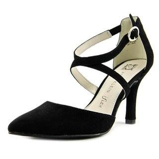 Anne Klein Fion Women Pointed Toe Suede Black Heels