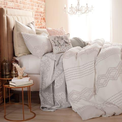 Porch & Den Narup Geometric 3-piece Cotton Comforter Set
