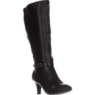 KS35 Hulah Knee High Dress Boots, Black