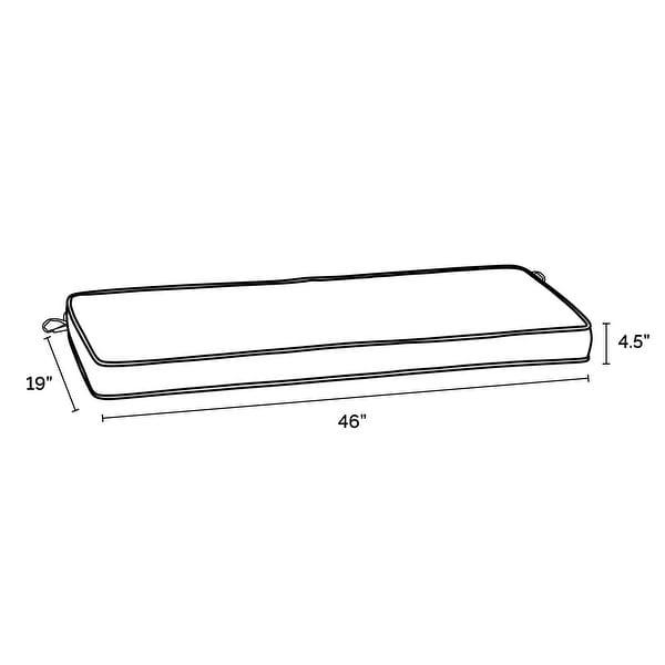 Arden Selections ProFoam Acrylic Bench Cushion - 18 L x 46 W x 3.5 H in